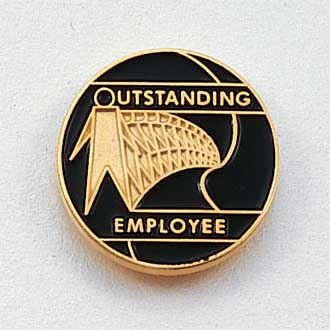 Outstanding Employee Lapel Pin #CL-8