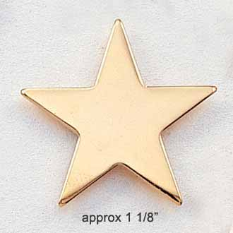 Stock Star Pin – Large Flat Star Style #CL-9