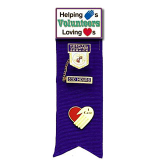 Stock Ribbon Pin Holder – Helping Hands Loving Hearts Style #D901
