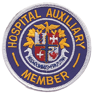 Hospital Auxiliary Member Embroidered Emblem #E-1001