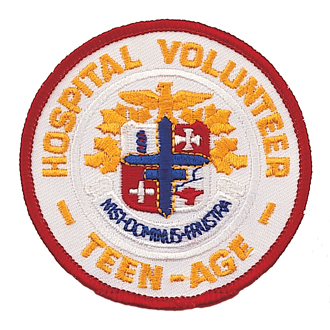 Stock Teen-Age Volunteer Embroidered Patch – AHA Logo Design #E-1014