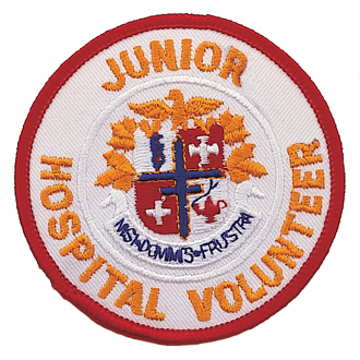 Junior Hospital Volunteer Embroidered Emblem #E-1028