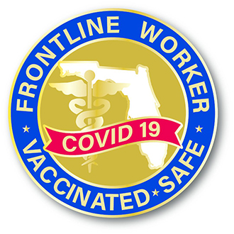 Custom Covid-19 Lapel Pin – Vaccinated Design #KJ-9108-FWVS