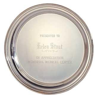 Custom Engraved Silver Tray – 10