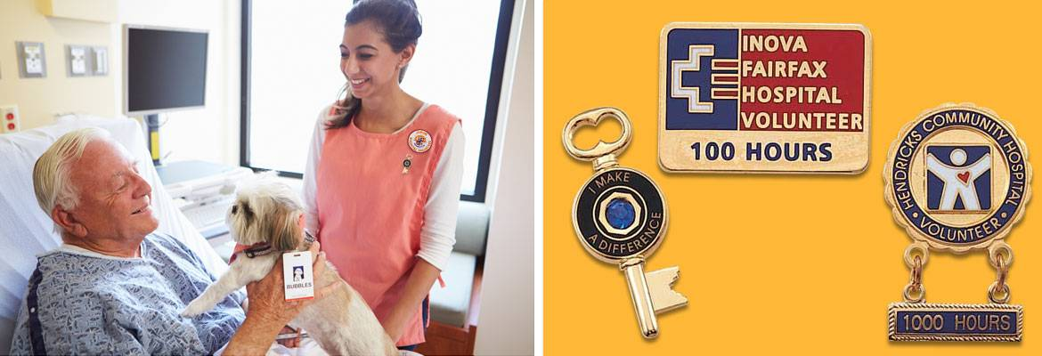 Reward kindness with Volunteer Lapel Pins