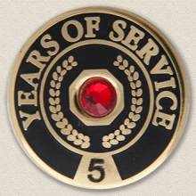 Stock Years of Service Lapel Pin – Gemstone Design #621