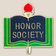 Stock Education Lapel Pin – Honor Society Design #7029