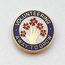 Stock Volunteer Lapel Pin – Hand and Flower Design #143