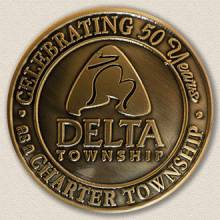 Custom Township Coin Medallion – Anniversary Design #2001
