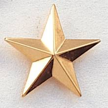 Stock Star Pin – Large Beveled Star Style #207
