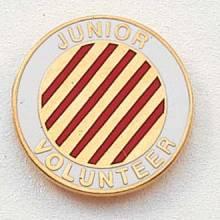 Stock Junior Volunteer Lapel Pin – Candy-Striper Design #216
