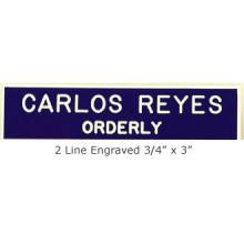 Engraved Name Bar Badge #2LN