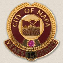 City of Napa Lapel Pin #3000