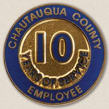 County of Chautauqua Years Service Lapel Pin #3001