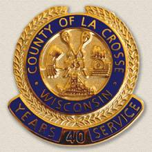 County of La Crosse Years Service Lapel Pin #3005