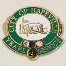 City of Hapeville years service Lapel Pin #3011