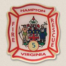 Custom Fire Department Pin – City Seal Design #3017