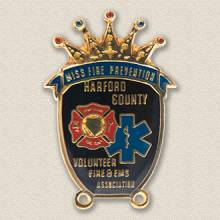 Custom Fire Department Pin – Crown Design #3019