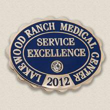 Custom Customer Service Lapel Pin – Excellence Design #4010