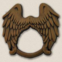 Custom ID Badge Holder – Angel Wings Design #4012