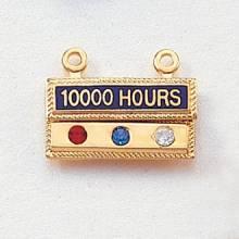 Stock Hour Attachment – 3 Gemstone Design #420-HG3
