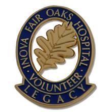 Custom Volunteer Lapel Pin – Oak Leaf Design #5005