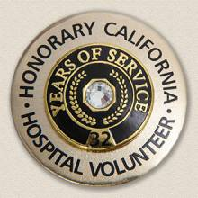 Custom Brooch – Honorary Volunteer Design #5006