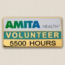 Custom ID Badge Holder – Volunteer Design #5017