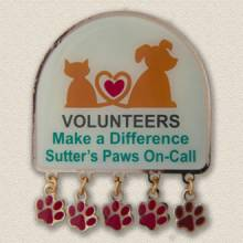 Custom Volunteer Pin – Paws on Call Design #5025