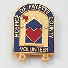 Custom Hospice Lapel Pin – Heart and House Design #553