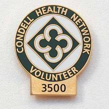 Custom Volunteer Lapel Pin – Hour Tab Design #569
