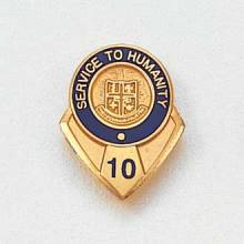 Stock Years of Service Lapel Pin – AHA Logo Design #600