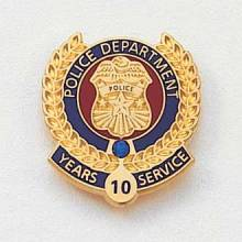 Stock Police Lapel Pin – Badge Design #625