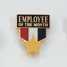 Stock Employee Lapel Pin – Employee of the Month Design #647