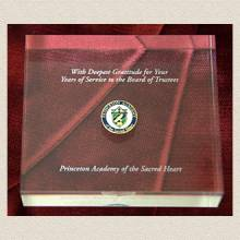 Custom School Paperweight– Board of Trustees Design #7026