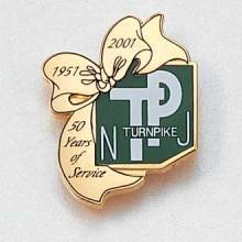 Custom State Lapel Pin – Turnpike Design #710