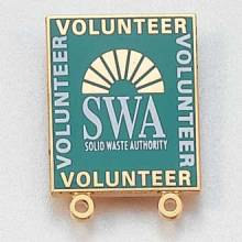 Custom Volunteer Lapel Pin – Fan Design #711
