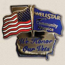 Wellstar Community Hospice Veterans Lapel Pin #8014