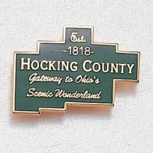 Custom County Lapel Pin – County Map Design #844