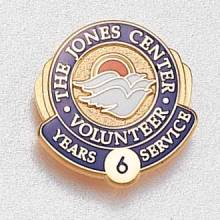 Custom Years of Service Lapel Pin – Doves Design #845