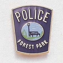 Custom Police Lapel Pin – Park Bench Design #849