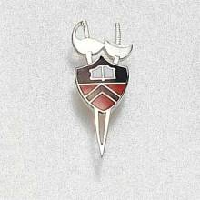 Custom College/University Lapel Pin – Fencing Design #858