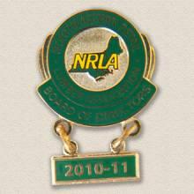 Custom Board Member Lapel Pin – Map Design #9007