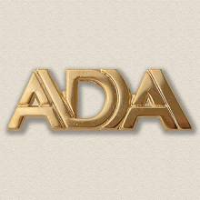 Custom Association Pin – Pierced Letters Design #9026