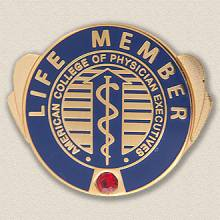 Custom Association Pin – Caduceus Design #9027