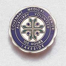 Custom Hours of Service Lapel Pin – Hospital Logo Design #948
