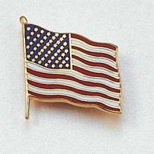 Stock Flag Lapel Pin – American Flag Design #CL-10