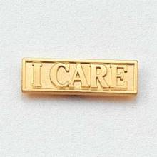 Stock I Care Lapel Pin – Rectangular Design #CL-6