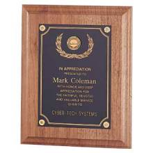 Custom Plaque – Walnut Design #P-101