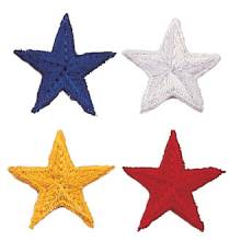 Stock Embroidered Stars – Solid Design #P-1026